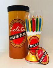 Lolita Birthday Beer Pilsner Beer Glass 22 oz Hand Painted NIB