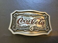 COCA COLA New BELT BUCKLE Metal Old Advertising Sign Logo