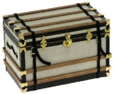 Dollhouse Miniature Trunk Kit -- Canvas Covered Trunk -- 1:12 Scale