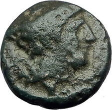 TRAGILOS in MACEDONIA 400BC Hermes Rose Authentic Ancient Greek Coin i62873
