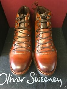 oliver sweeney, brand new TAN LEATHER   HIKER TRAIL BOOT, XL SOLE size, 11  uk