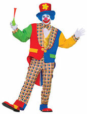 Clown On The Town Adult Men's Costume Multi Colored Halloween Fancy Dress
