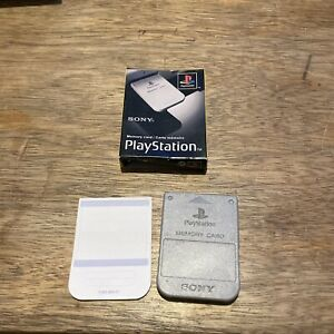 Sony Playstation 1 PS1 Official memory card SCPH-1020 with box