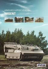 FFG WISENT 2015 ARMOURED VEHICLE MILITARY BROCHURE PROSPEKT FOLDER DEPLIANT