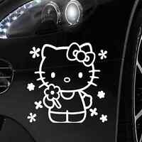 Autoaufkleber Tattoo ca.14x10 cm in Weiß . Auto Folien  #1 - Hello Kitty
