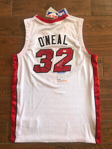 Shaquille O'Neal signed Authentic Miami Heat Jersey Shaq Autographed PSA Witness