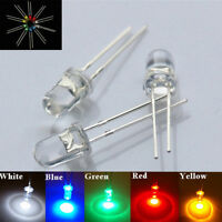 Qu_ 3/5mm LED Bulb Ultra Bright Water Clear LEDs 3V Colours Light Emitting Diode