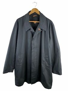 Michael Kors Long Overcoat Men's Size XL Black Button Up Lined Collared Casual
