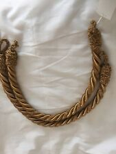 """Curtain Tie Back Chenille Rope 26 """"Lx3/4"""" w Gold, warm Bronze colors, new"""