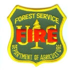 Forest Fire Fighter Chaud Verres États-unis Forêt Service Pompier Insignes Patch