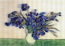 3D Lenticular Postcards - Irises, Van Gogh