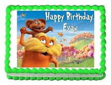 THE LORAX edible party cake topper decoration cake image frosting sheet