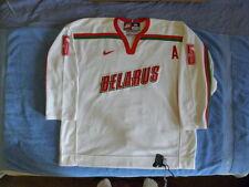 Nike Authentic GAME WORN USED GAMER Belarus Hockey jersey Oleg Romanov size 56