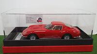 FERRARI 275 GTB 1965 rojo + VITRINA 1/18 BBR 1805V coche miniatura colección