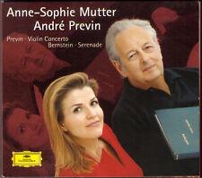 Anne-Sophie MUTTER: Andre PREVIN Violin Concerto BERNSTEIN Serenade CD André NEU