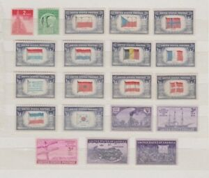 U.S. 1943-44 Commemorative Year Sets, 23 items Complete, mNH Fine