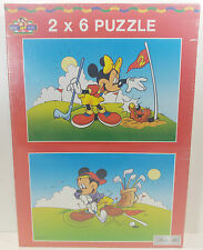 2 X 6 MICKEY MOUSE MASTER -LINE PUZZLE JIGSAW NEW SEALED
