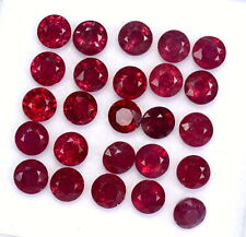 Natural Ruby Round Cut 4 mm Lot 10 Pcs 4.57 Cts Lustrous Red Loose Gemstones GF