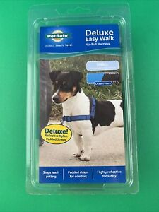 PetSafe Deluxe Easy Walk Harness Small Ocean/Black No Pull Brand New Reflective