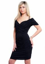 Strappy, Spaghetti Strap Wiggle, Pencil Knee Length No Pattern Women's Dresses
