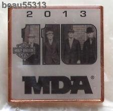 HARLEY DAVIDSON 2013 110th ANNIVERSARY MDA HOG H.O.G FOUNDERS VEST HAT PIN