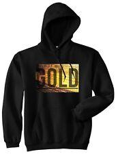 Kings Of NY Gold Bricks Printed Graphic Pullover Hooded Sweatshirt Hoody Hood