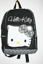 "Authentic Sanrio Hello Kitty Backpack w/Padded Tablet Sleeve 16""x13""x5.5"" Black"