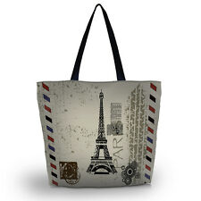 Effiel Tower Soft Foldable Tote Women's Shopping Bag Shoulder Bag Lady Handbag