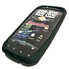 Silikon TPU Handy Hülle Cover Case Schale Schutz in Schwarz für HTC Sensation