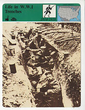 LIFE IN WORLD WAR I TRENCHES Trench Warfare German Photo STORY OF AMERICA CARD