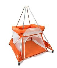 BABYHUB SLEEPSPACE | PREMIUM TRAVEL COT AND TEPEE TANGERINE | NEW | FREE P&P