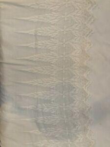 Vintage Antique White Cotton Embroidery Dress Remnants