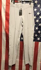 New Nike Vapor Elite Baseball Softball Training MLB Pants Mens M Grey 747223-052