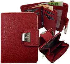 Portemonnaie  Damen Geldbörse  Geldbeutel Portmonee Leder Neu 5197 Rot