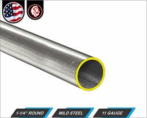 "1-1/4"" Round Metal Tube - Mild Steel - 11 gauge - ERW - 12"" Long (1-ft)"