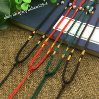 Chicken Wing Wood Hand Woven Braided Beads String Rope Cord For Pendant Necklace