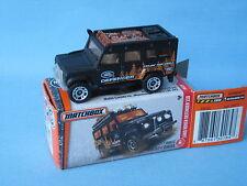 Matchbox Land Rover 110 Defender Black Body Toy Model Car 70mm Boxed 4x4 Explore