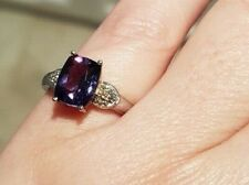 Blueberry Quartz ring size N Sterling silver