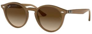 Ray-Ban Damen Herren Sonnenbrille RB2180 6166/13 49mm hellbraun panto RB5