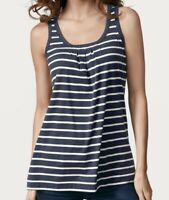 CAbi  SEASIDE TANK #748 Navy & White Stripe  Size M