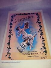 Vintage 1976 Olympia Beer Victorian (Unframed) Poster Sign