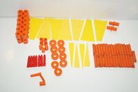 Assorted Lot 71 Plastic & Wood TinkerToys Tinker Toys Building Fins Connectors