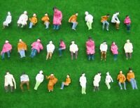 100pcs 1:87 Seated Painted Figures Passenger HO Scale Miniature Scenery Layout