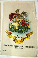 B.D.V. Cigarettes Silk- THE NORTHUMBERLAND FUSILIERS 5th FOOT SILK BADGE
