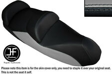 BLACK AND GREY VINYL CUSTOM FITS 14-15 PIAGGIO MP3 LT 500 SPORT SEAT COVER ONLY