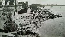 Postcard RPPC France Beach Seaside Saint Malo La Plage de Bon Secours
