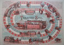 Tramway Spel Gioco dell'oca  1885 rarissimo