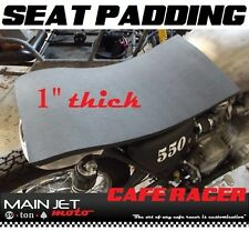 Cafe Racer motorcycle seat pad foam cushion Honda cb400 cb360 kz400 sr500 cb450