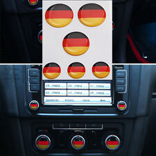 6X Germany Flag Stereo Radio Button Badge Emblem Resin Sticker for MK7 Golf Polo