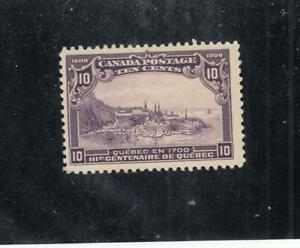 CANADA # 101 F-VF-MLH  10cts  1908 QUEBEC IN 1700 / VIOLET CAT VALUE $200